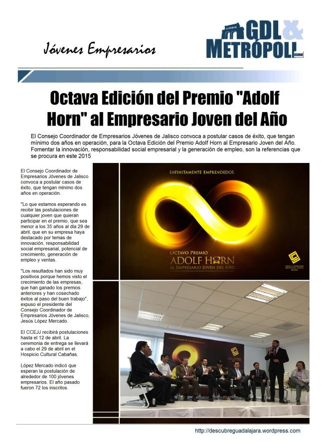 8vo Premio Adof Horn