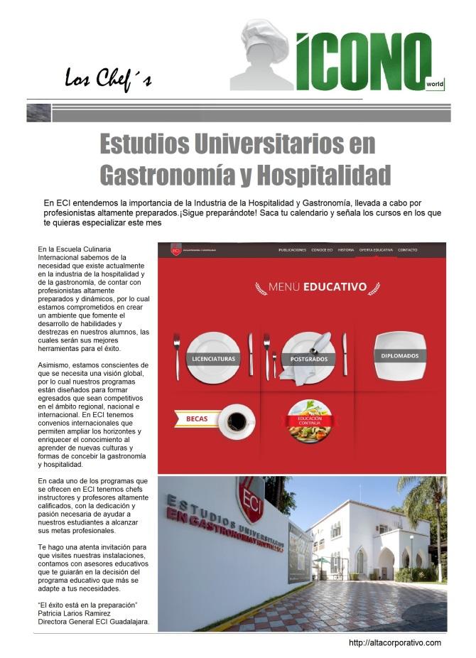Gastronomía y Hospitalidad 2015